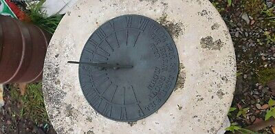 Antique Sundial On A Heavy Stone Stand
