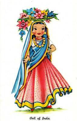 Doll of India Postcard