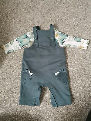 Marks And Spencer Baby Boy Dungaree Set 0-3m