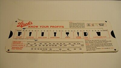 Stroh's Brewery Company Beer Profit Calculator Datalizer Slide Chart