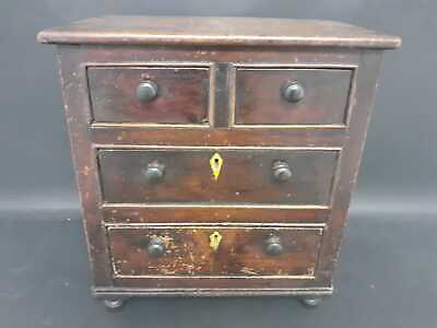 Miniature Victorian chest of drawers circa 1860
