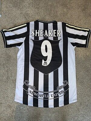 Newcastle United 1997-99 #9 Alan Shearer shirt  Retro Remake Read Desc