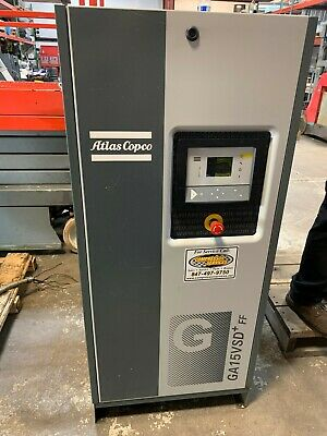 Atlas Copco Ga15Vsd+Ff Variable Speed Rotary Screw Air Compressor With Dryer