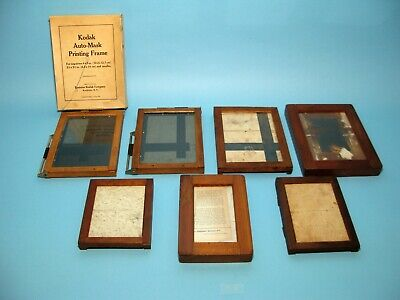 Contact Wood Printing Frames Vintage, Set of 7, All in Very nice condition