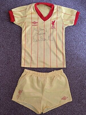 Liverpool Away Shirt & Shorts 1982-84 Signed By Robbie Fowler