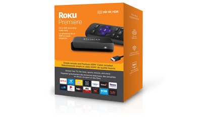 Roku Premiere   HD/4K/HDR Streaming Media Player, Simple Remote and Premium HDMI