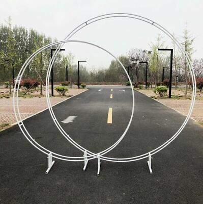 White Circle Iron metal arch/ round ceremony arch/ flower arch backdrop