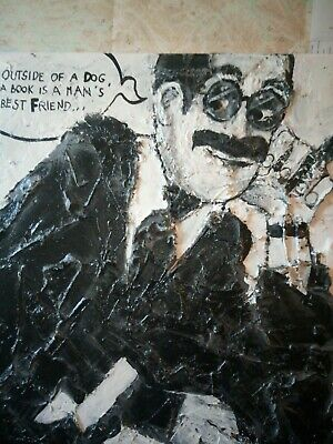 Groucho Marx - large Painting cm 50*70 - acrylic and stucco on Canvas. Stunning