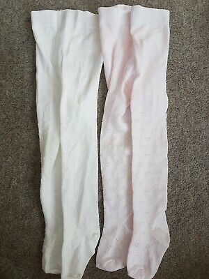 Baby girl tights 12-18 months 2 pairs