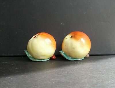 Antique Chinese porcelain altar fruit qing dynasty famille rose pair apples