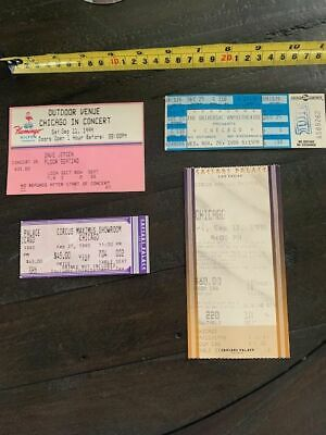 CHICAGO the band Set of 4 Concert Ticket stubs.  1986, 1993, 1998, 1999