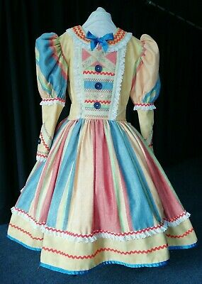 """Pantomime Dame. 46"""" bust/chest Dress & Mob Cap"""