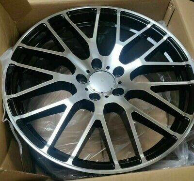 "19""black pol 45 audi Mercedes Benz c/e/s class c63 Alloy Wheels Wider Rear tyres"