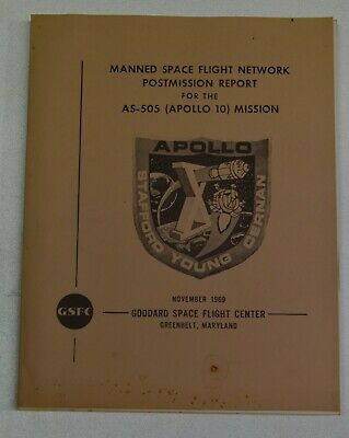 VINTAGE Apollo 10 Postmission Report - AS-505 -Goddard Space Flight Center 1969