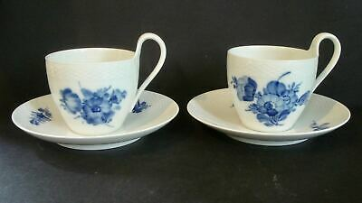 Royal Copenhagen ~ Blue Flowers-Braided ~ Oversized Cup & Saucer Sets  ( 2 )
