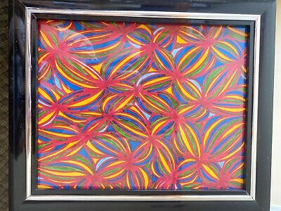 handmade pattern painting in a excellent condition with a non breakable frame.