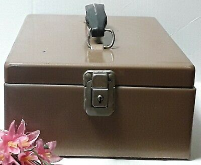 File Rockaway Prod. Corp. Metal Box Midcentury Safe File Organizer NO KEY