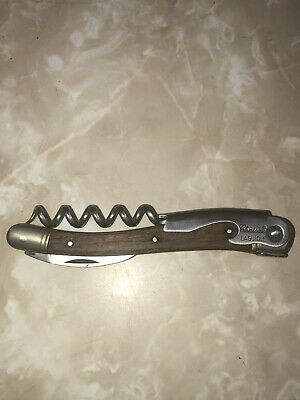 Authentic Handmade Vintage Chateu Lagiole Vialis Corkscrew With Leather Case