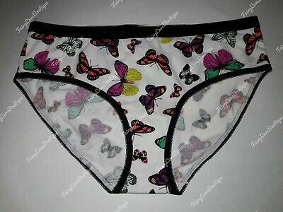 NWT VICTORIAS SECRET HIPHUGGER PANTY LARGE ~ Spring Butterfly Love Print/ Cotton