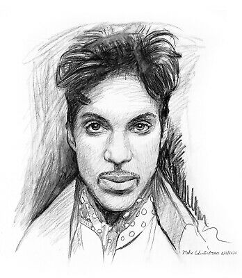 Prince original drawing by Mike Winterbauer 2020