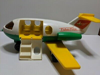 Fisher Price (1980) Vintage Toy Airplane (No. 182) (Made In USA)