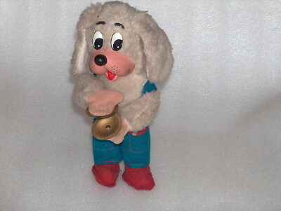 Cute Vintage Wind-Up Plush Toy- Dog With Cymbals