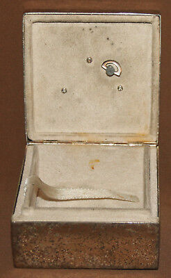 German Philippi Silver Plated Jewelry  Music Box