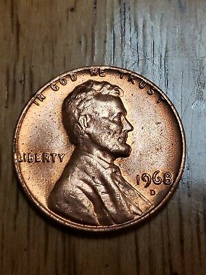 1968 D Double Die Obverse DDO Lincoln Memorial Error Penny BU Fresh from Roll !