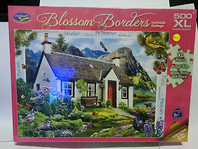 Holdsons 77173 Blossom Borders Lochside Cottage by Howard Robinson 500pce jigsaw