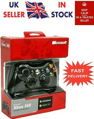 Xbox Controller Wired 360 Microsoft Pc Gamepad Usb Wireless Joystick Game New uk