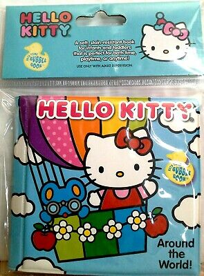 HELLO KITTY Baby Infant BUBBLE Soft Squishy BATH BOOK 3 Varieties NEW!