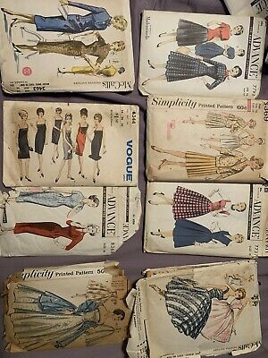Vintage SEWING Patterns Lot Of 8 McCall, Simplicity