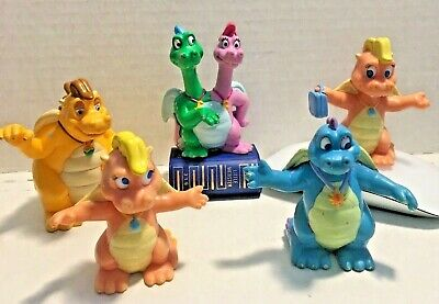 Dragon Tales ( SET OF 5)  Hasbro PVC FIGURES Cake Toppers VINTAGE LOT
