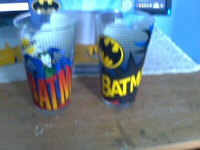 A 2 Piece Clear Collectible Glass Set Of Batman And The Joker