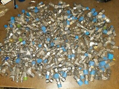 45lbs Parker Swagelok Compression Npt Fittings stainless steel lot#1