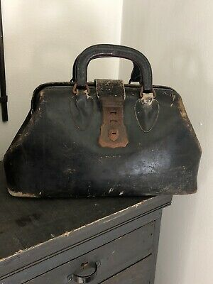 Antique Doctor Bag And Tools