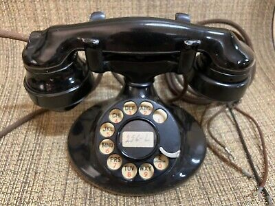 Western Electric D-1 Oval Base 202 Desk Telephone w/ 4-H Clicking Dial & E-1 Han