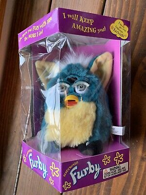 1999 Electronic Furby Sealed Teal Turquoise Light Yellow 78-800