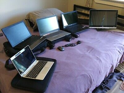 Used laptops lot 5 working computers 1.00 No Reserve