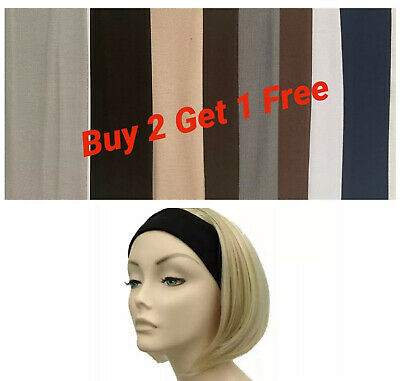 Pack of 3 Assorted Sports Gym Stretchy Plain Hairband Headband Alice Style 8 cm