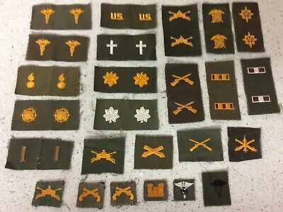 Vintage U.S. Military Insignia Patch Sew On Lot of 25