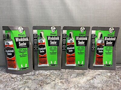 4 Vintage NOS Magic Automotive Transparent Windshield Sealer - Stops Leaks
