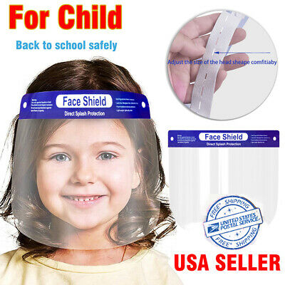 US Kids Adult Safety Full Face Shield Clear Protector Industry Dental Anti-Fog