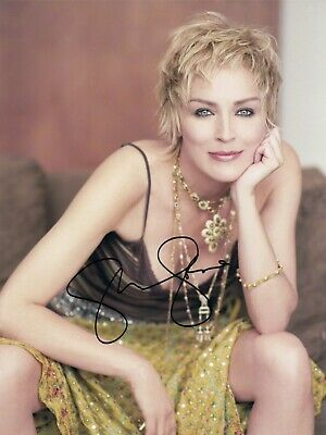 Sharon Stone Signed  8x10 auto photo in Excellent Condition