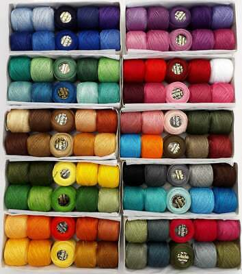 44 ANCHOR Pearl Cotton Crochet Embroidery Thread Balls £51.99 Choose 185 Colors