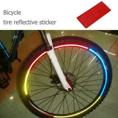 Reflective Stickers Bicycle Tire Wheel Fluorescent Rim Decal Reflector Bike Y5K9