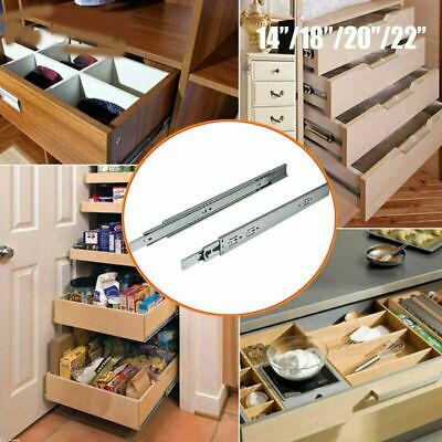 1 Pair by REJS Push to open drawer runners slide,full extension,H45 450mm
