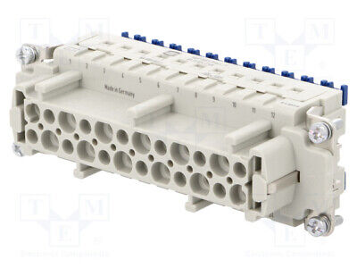 Connector: rectangular female Han ES Press PIN: 24 24+PE 16A[1 pcs]