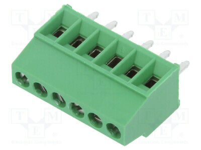 MKDS 1// 6-3,5-1751280 PCB terminal block angled 90° 3.5mm ways 6 on PCBs term