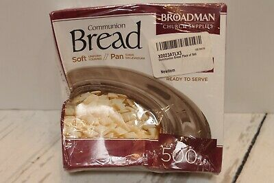 Broadman Soft Communion Bread 500 ct. - Exp August 2021 (Dented Sealed Box)